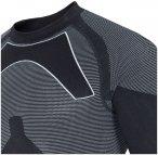 4F - nahtloses Thermoshirt - Herren Sport Longshirt - schwarz grau