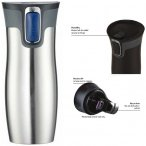 Contigo Thermobecher West Loop Kaffeebecher Teebecher - 470ml - silber