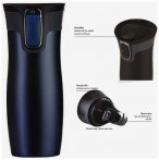 Contigo Thermobecher West Loop Kaffeebecher Teebecher - 470ml - monaco navy blue