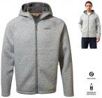 Craghoppers - flauschige, warme Strick Fleece Jacke Heelan - Herren - grau S