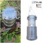 Hive - Outdoor-LED-Lampe - Zeltlampe - Stehlampe - grau