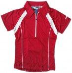 IXS - Damen Sport- Fahrrad Poloshirt - 4way Stretch Sportshirt - rot 40/L