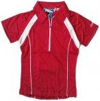 IXS - Damen Sport- Fahrrad Poloshirt - 4way Stretch Sportshirt - rot 36/S