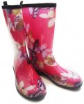 Kamik - Damen Gummistiefel Flower, pink EU 38