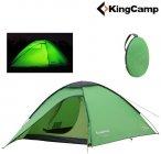 King Camp - POP-UP Kuppelzelt ELBA 3 - 100% wasserdicht 3.000 - 2-3 Personen ...