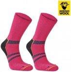 MERINOWOOL - SEGER TREKKING MID Socken, pink S