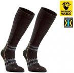 MERINOWOOL - SEGER TREKKING PLUS ENERGIZING Socken, schwarz XS