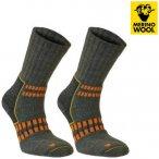 MERINOWOOL - SEGER TREKKING PLUS Socken, green S