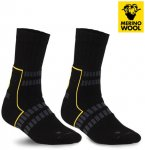 MERINOWOOL - SEGER TREKKING PLUS Socken, schwarz XS