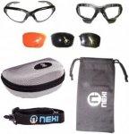 Nexi - S1 Black Demon - Sportbrille Sonnenbrille Skibrille mit 3...