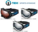 NEXI - Skibrille Snowboard Brille Helmkompatibel Doppelscheiben - inkl. Etui ...