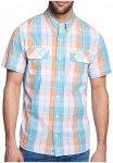 Timberland - SS PLAID - Herren Hemd - blau orange kariert-M