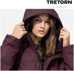 Tretorn - Baffle Short Jacket - Damen Winterjacke - weinrot