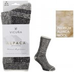 VICUNA - ALPACA ANTARCTICA - Luxurious Wool Socken - dicke Wollsocken - grau XL