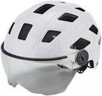 ABUS Hyban+ Helmet cream white, clear visor L | 56-63cm 2019 Fahrradhelme, Gr. L