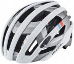 Alpina Campiglio Helmet white-silver-blue-red 51-56cm 2018 Fahrradhelme, Gr. 51-