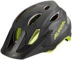 Alpina Carapax Helm Jugend black-neon-yellow 51-56cm 2021 Fahrradhelme, Gr. 51-5