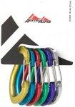 AustriAlpin Micro Friends Wiregate Carabiner Set 6 Pieces multicolor  2018 Karab