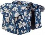 Basil Magnolia Gepäckträger Doppel-Tasche 35l teal blue  2019 Gepäckträgerta
