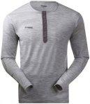 Bergans Henley Wool Shirt Men Grey Melange M 2018 Langarmshirts, Gr. M