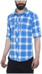 Bergans Jondal Shirt LS Men Athens Blue/White Check L 2018 Sportshirts, Gr. L