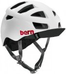 Bern Allston Helm inkl. Flip-Visier satin-weiß 54-57 cm 2017 Fahrradhelme, Gr.