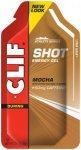 CLIF Bar Shot Gel Box 24x34g Mocha with Caffeine  2019 Gels & Smoothies
