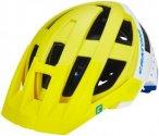Cratoni Allset Helmet lime-white-blue matt M/L | 58-61cm 2019 Fahrradhelme, Gr.