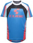 Cube Action Team Rundhalstrikot kurzarm Junior blue'n'white'n'red 158-164 2017 K