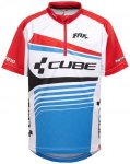 Cube Teamline Trikot kurzarm Juniors white'n'blue'n'red 146-152 2017 Kinderbekle