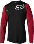 Fox Attack Pro Long Sleeve Jersey Men red/black S 2018 Fahrradtrikots, Gr. S