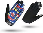 GripGrab Rebel Youngster Long Cycling Gloves Blue Camo L 2018 Accessoires, Gr. L