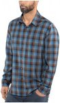 Icebreaker Departure II LS Shirt Men Midnight Navy/Granite Blue/Plaid M 2018 Spo