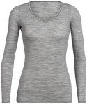 Icebreaker Siren LS Herzausschnitt Shirt Damen metro heather M 2020 Unterhemden,