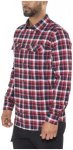 Jack Wolfskin Bow Valley Shirt Men red blue checks M 2017 Langarm Hemden, Gr. M