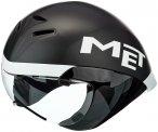 MET Drone Helm black/white M | 54-58cm 2021 Triathlon Helme, Gr. M | 54-58cm