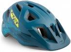 MET Eldar Helm Kinder petrol blue camo 52-57cm 2021 Fahrradhelme, Gr. 52-57cm