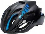 MET Rivale Helm black/cyan 59-62cm 2018 Fahrradhelme, Gr. 59-62cm