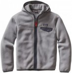 Patagonia Lightweight Synch Snap-T Hoody Boys Feather Grey XS 2016 Fleecejacken,