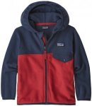 Patagonia Micro D Snap-T Jacke Kinder fire with neo navy 5J | 111 2020 Fleecejac
