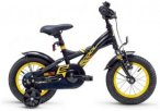 "s'cool XXlite 12 steel Black/Yellow 12"" 2019 Jugend- & Kinderfahrräder, Gr. 12"""