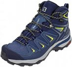 Salomon X Ultra 3 Mid GTX Shoes Women Crown Blue/Evening Blue/Sunny Lime UK 7,5