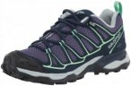 Salomon X Ultra Prime Hiking Shoes Damen Artist Grey-X/Deep Blue/Lucite Green EU