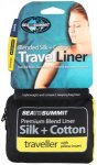 Sea to Summit Silk/Cotton Travel Liner Traveller with Pillow Slip navy blue  201