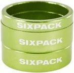 "Sixpack Spacer Kit 1 1/8"" electric-green  2018 Krallen, Spacer & Kleinteile"