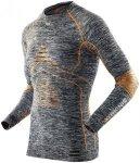 X-Bionic Accumulator EVO Melange UW LS Round Neck Shirt Men Grey Melange/Orange