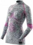 X-Bionic Accumulator EVO Melange UW LS Turtle Neck Shirt Women light grey melang