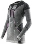 X-Bionic Apani Merino By Fastflow UW LS Roundneck Shirt Damen black/grey/pink XS