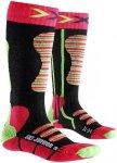 X-Socks Ski Socks Junior Coral/Green 31-34 2018 Wintersport Socken, Gr. 31-34