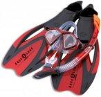Aqua Lung Set Proflex X Schwimmen - Rot, Gr. 36-38